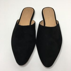 Madewell The Remi Mule Suede Black sz 7